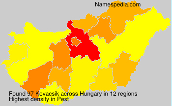 Surname Kovacsik in Hungary