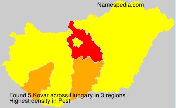 Surname Kovar in Hungary
