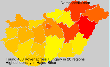 Surname Kover in Hungary