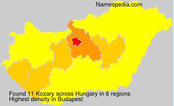Surname Kozary in Hungary