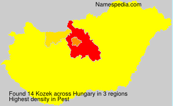 Surname Kozek in Hungary