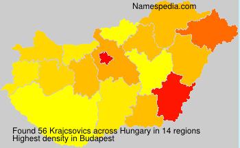 Familiennamen Krajcsovics - Hungary