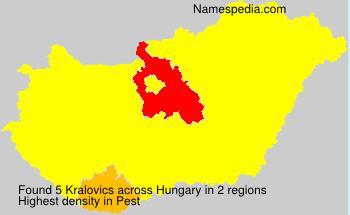 Surname Kralovics in Hungary