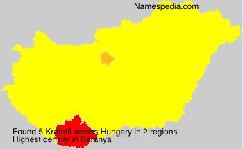 Surname Kratofil in Hungary