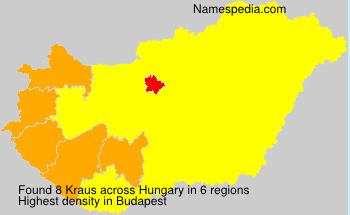Surname Kraus in Hungary