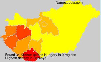 Surname Kreiner in Hungary