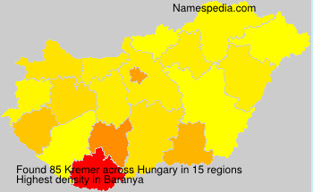 Surname Kremer in Hungary