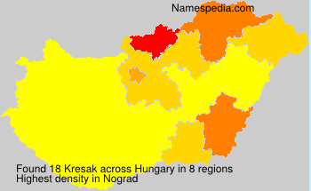 Surname Kresak in Hungary