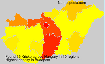 Surname Krisko in Hungary