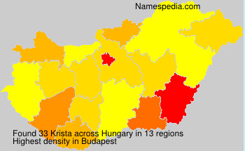 Surname Krista in Hungary