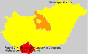 Familiennamen Kroh - Hungary