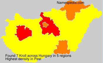 Familiennamen Kroll - Hungary