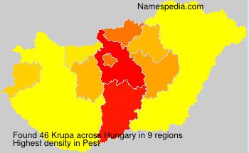 Surname Krupa in Hungary