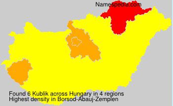 Surname Kublik in Hungary