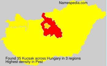 Surname Kucsak in Hungary