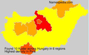 Surname Kudar in Hungary