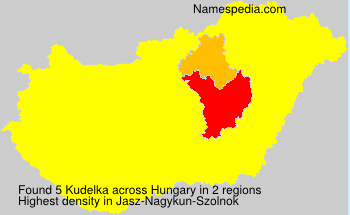 Familiennamen Kudelka - Hungary