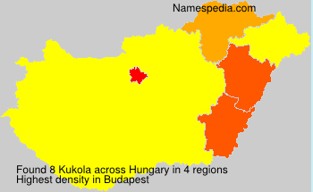 Surname Kukola in Hungary