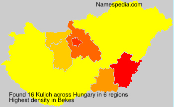 Surname Kulich in Hungary