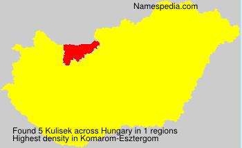 Surname Kulisek in Hungary