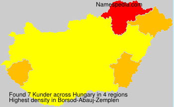 Surname Kunder in Hungary