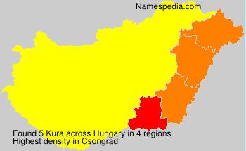 Surname Kura in Hungary
