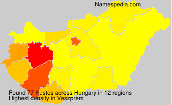Surname Kustos in Hungary