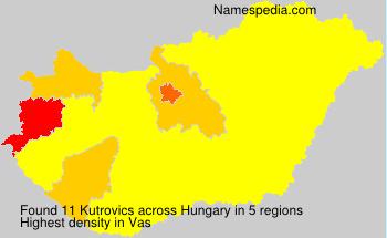 Surname Kutrovics in Hungary