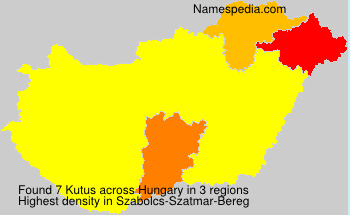 Surname Kutus in Hungary