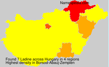 Surname Ladine in Hungary