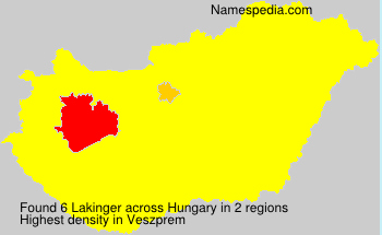 Surname Lakinger in Hungary