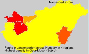 Surname Lancendorfer in Hungary