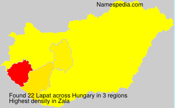 Surname Lapat in Hungary