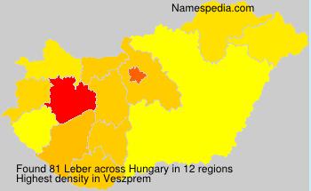 Surname Leber in Hungary