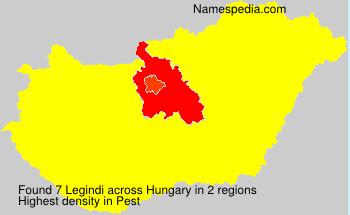 Surname Legindi in Hungary