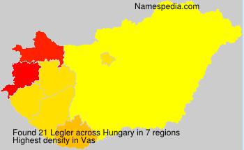 Familiennamen Legler - Hungary