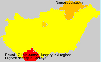 Surname Leib in Hungary