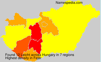Surname Leicht in Hungary