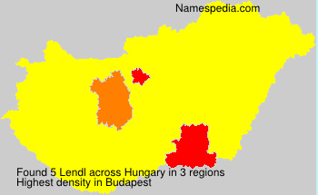 Surname Lendl in Hungary