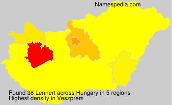 Surname Lennert in Hungary