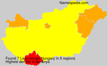 Surname Levy in Hungary
