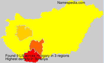 Surname Lill in Hungary