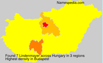 Familiennamen Lindenmayer - Hungary