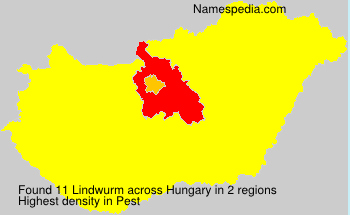 Surname Lindwurm in Hungary