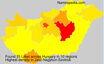 Familiennamen Litkei - Hungary