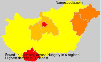 Familiennamen Ludmann - Hungary