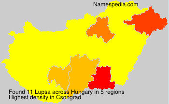 Surname Lupsa in Hungary