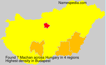 Surname Machan in Hungary