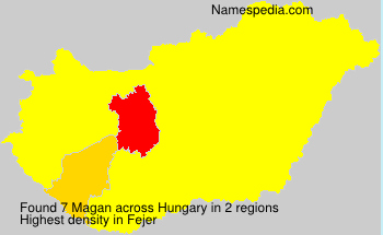 Surname Magan in Hungary