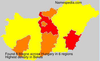 Surname Magne in Hungary